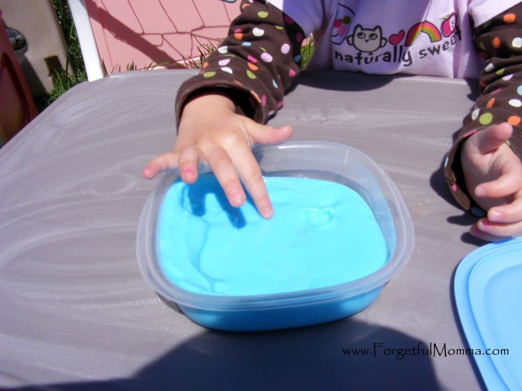 playing with Easy homemade Slime