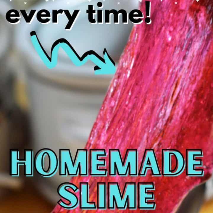 No fail homemade slime recipe.