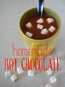 Warm up with Homemade Hot Chocolate