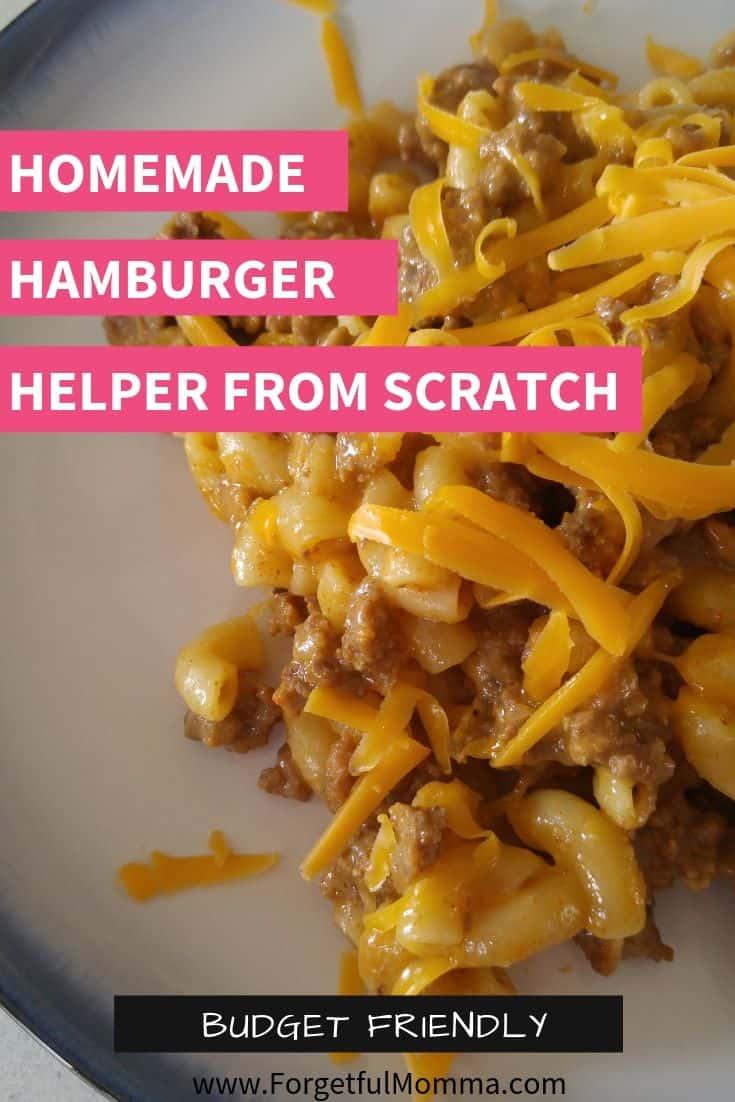 Homemade Hamburger Helper from scratch
