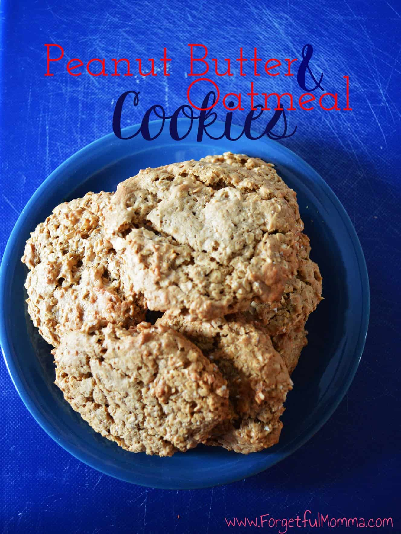 Peanut Butter & Oatmeal Cookies