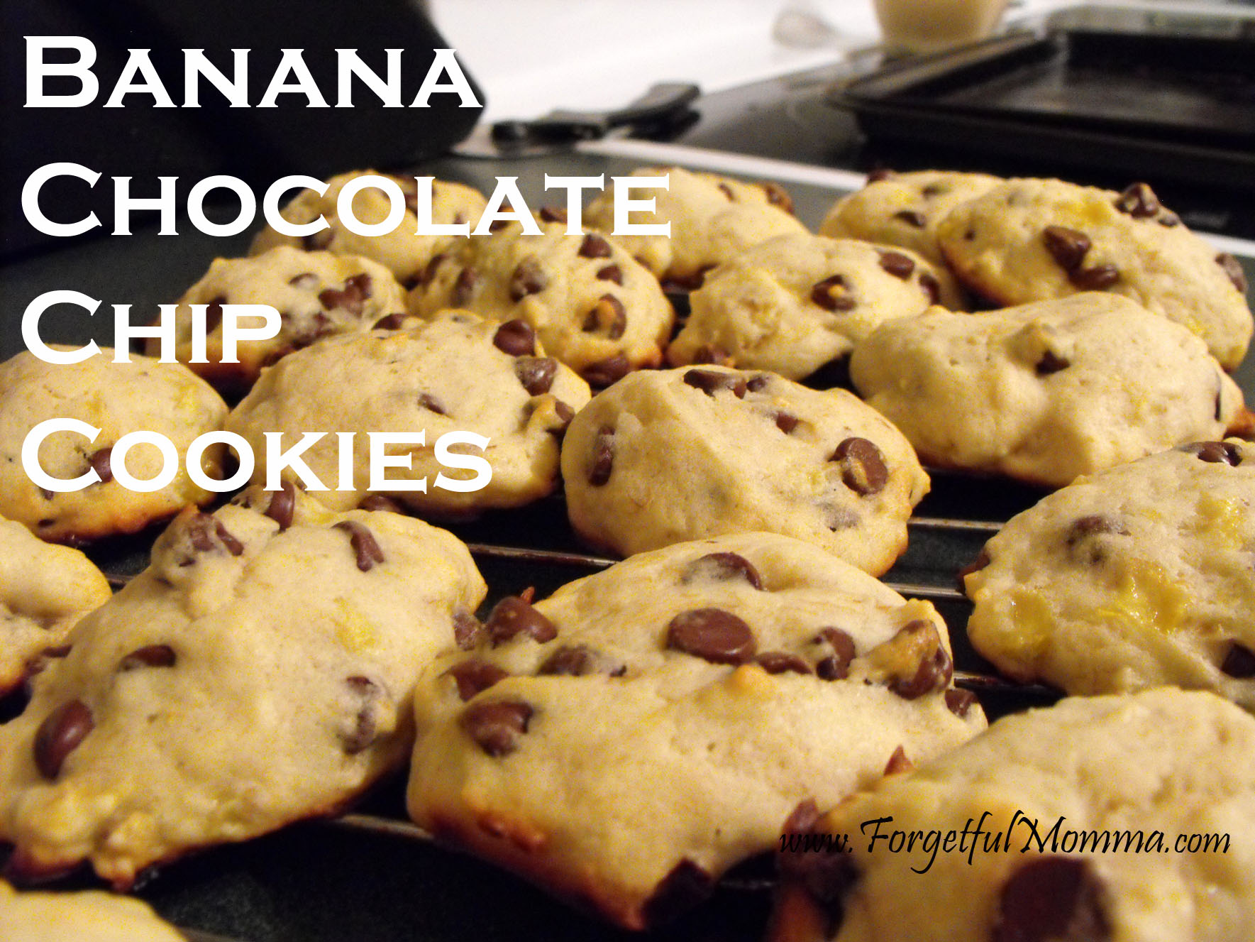 Banana Chocolate Chip Cookies - Forgetful Momma