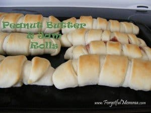 Peanut Butter and Jam Rolls