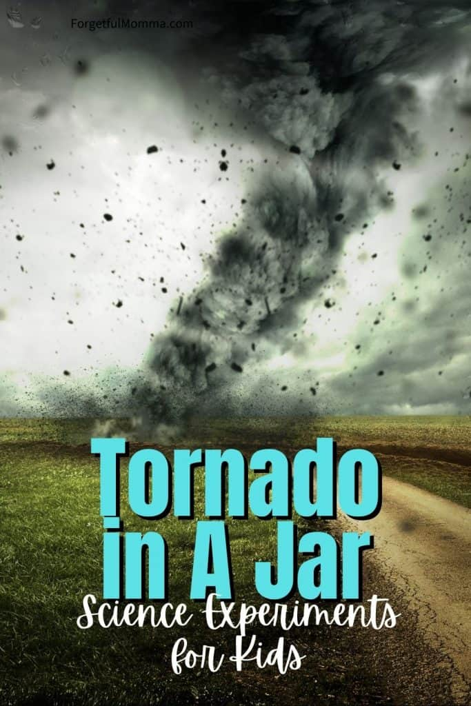 Tornado in A Jar Science Experiments for Kids
