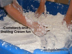 Corn Starch Makes a Mess