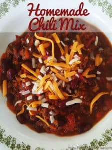 Homemade Chili, with Homemade Chili Mix