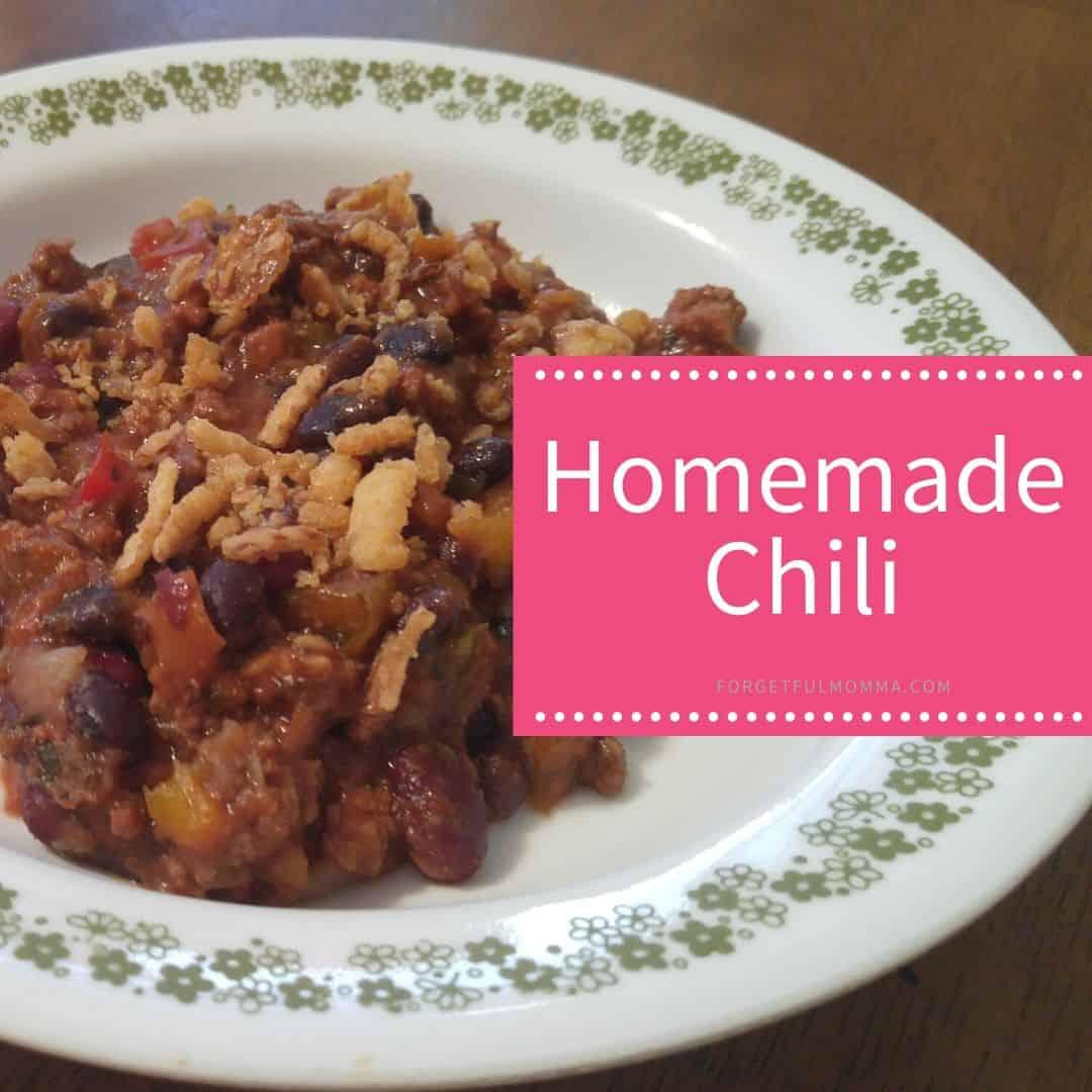 Chicken Chili + Homemade Chili Mix