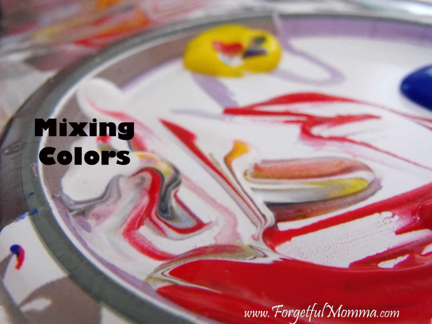 Finger Painting Tin Foil