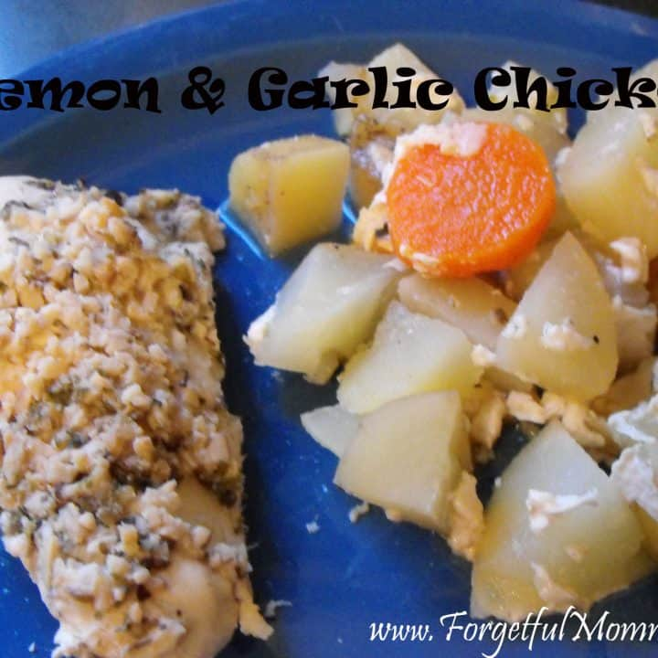 Slow Cooker Lemon Garlic Chicken and Veggies
