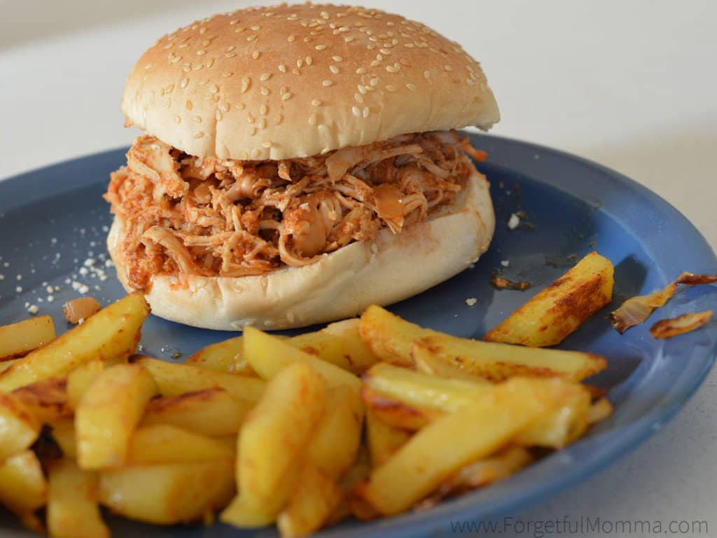 Pulled Chicken & Homemade BBQ Sauce
