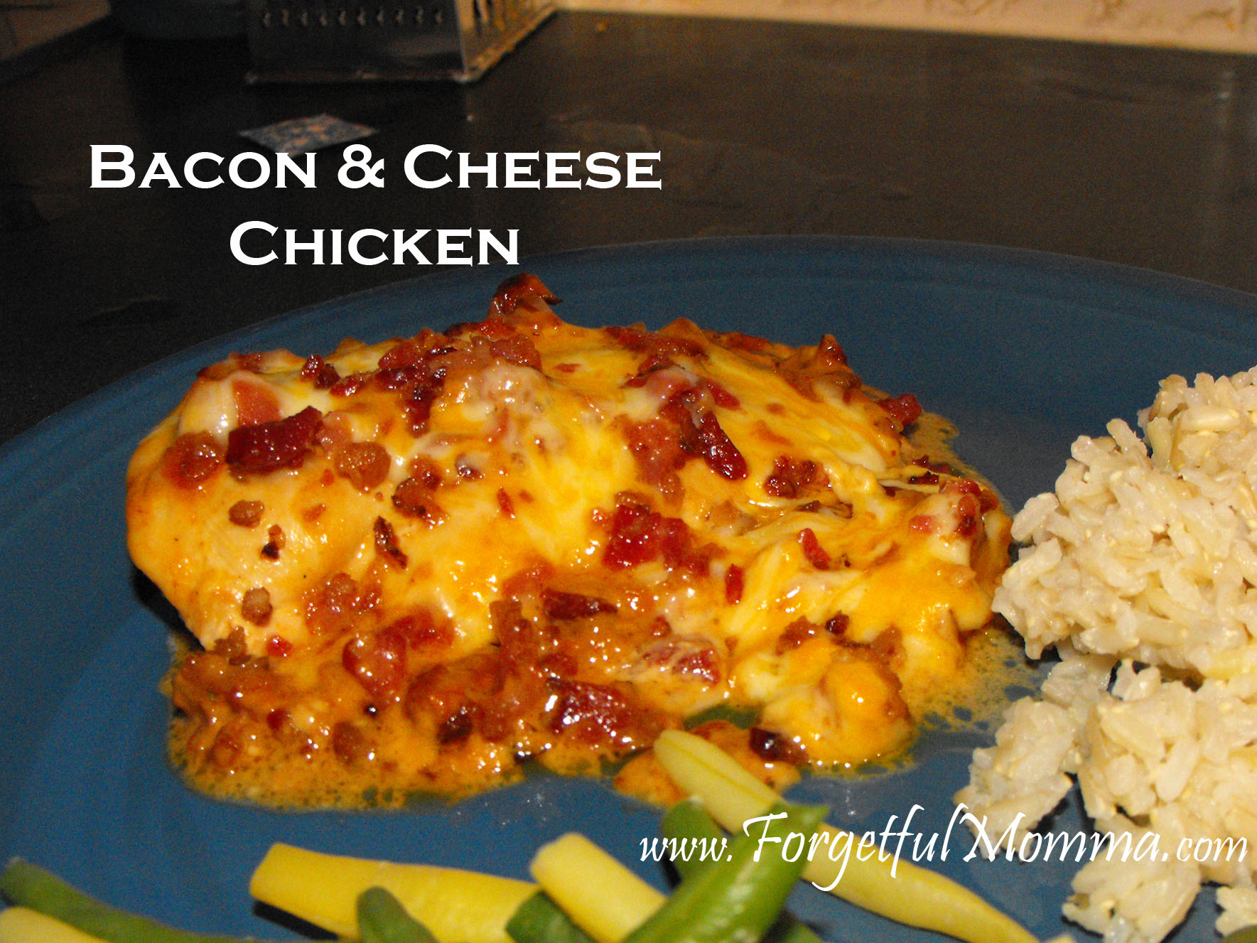 Slow cooker bacon cheese chicken forgetful momma bacon cheese chicken forumfinder Images