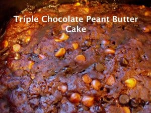 Triple Chocolate Peanut Butter Cake