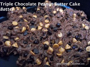 Triple Chocolate Peanut Butter Cake