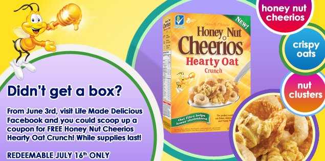 Honey Nut Cheerios Hearty Oat Crunch