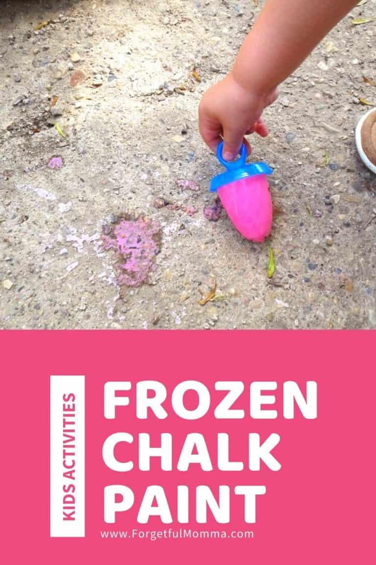 Frozen Chalk Paint for Hot Days