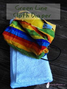 Green Line Cloth Diaper
