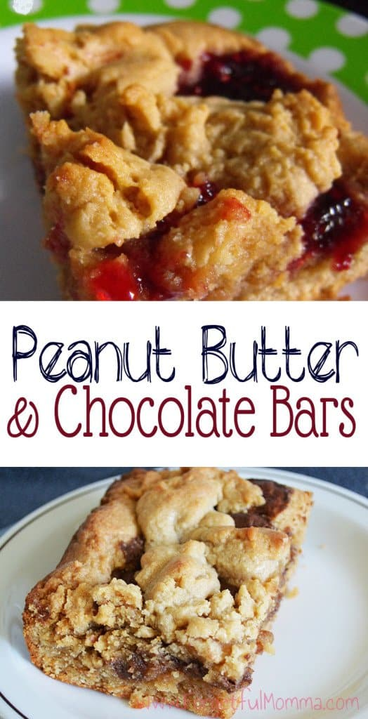 Peanut Butter & Jam or Chocolate bars