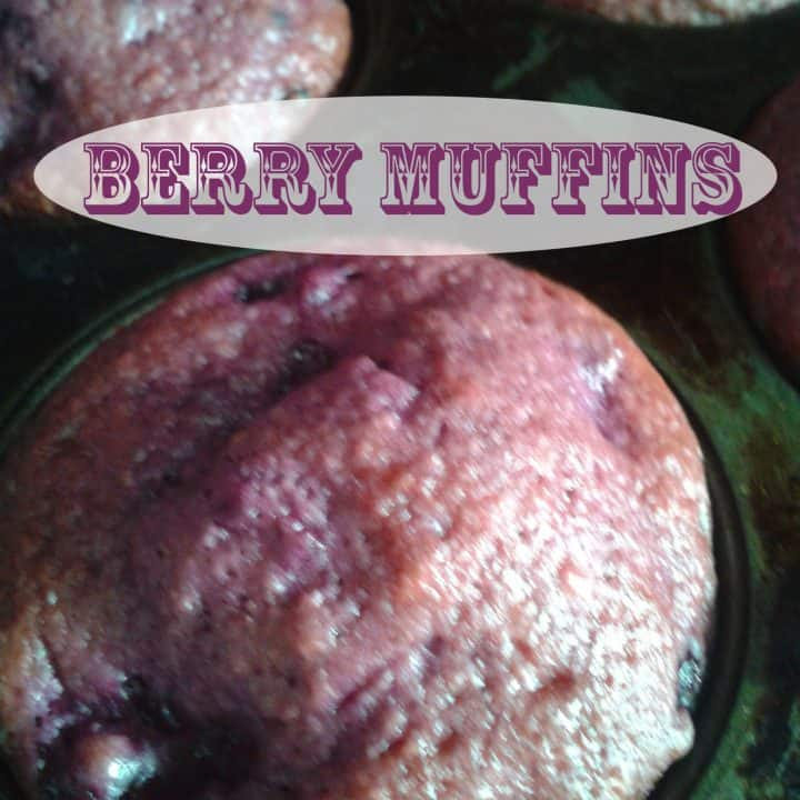 Healthy Berry Muffins for Breakfast