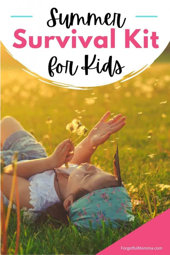 Summer Survival Kit  - laying in the flowers