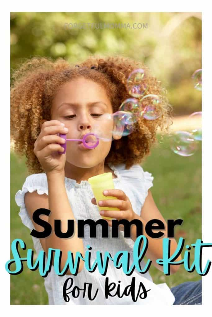 Summer Survival Kit - girl blowing bubbles