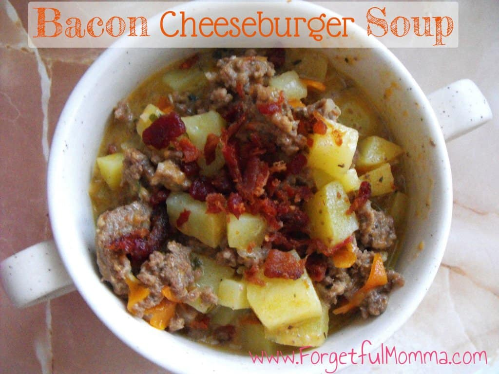 Bacon Cheeseburger Soup - Soup Round Up