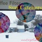 Coffee Filter Sun Catcher