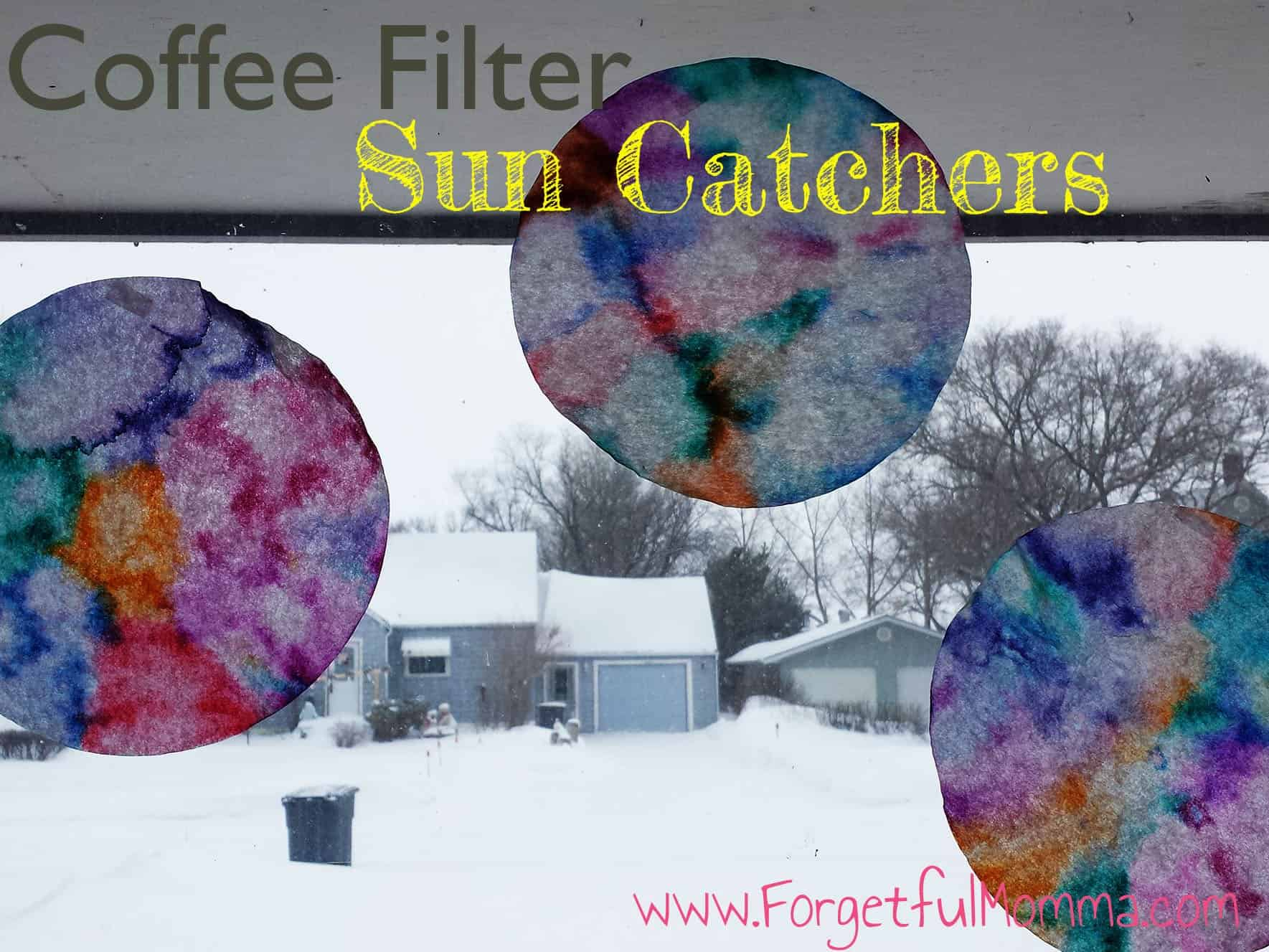 Easy Coffee Filter Sun Catcher Craft
