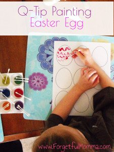 Q- Tip Painting – Easter Eggs