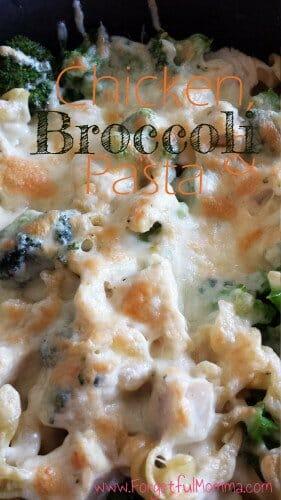 chicken broccoli pasta skillet