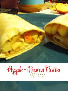 Apple Peanut Butter Wrap