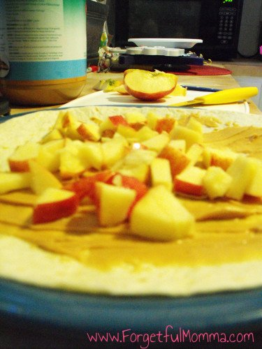 Apple Peanut Butter Wraps