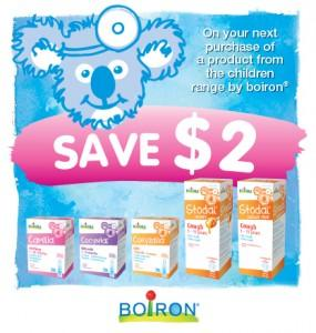 Boiron $2 off Kids products