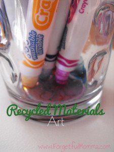 Recycled Materials Art - Old Markers