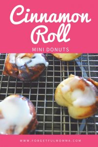 Cinnamon Roll Mini Donuts