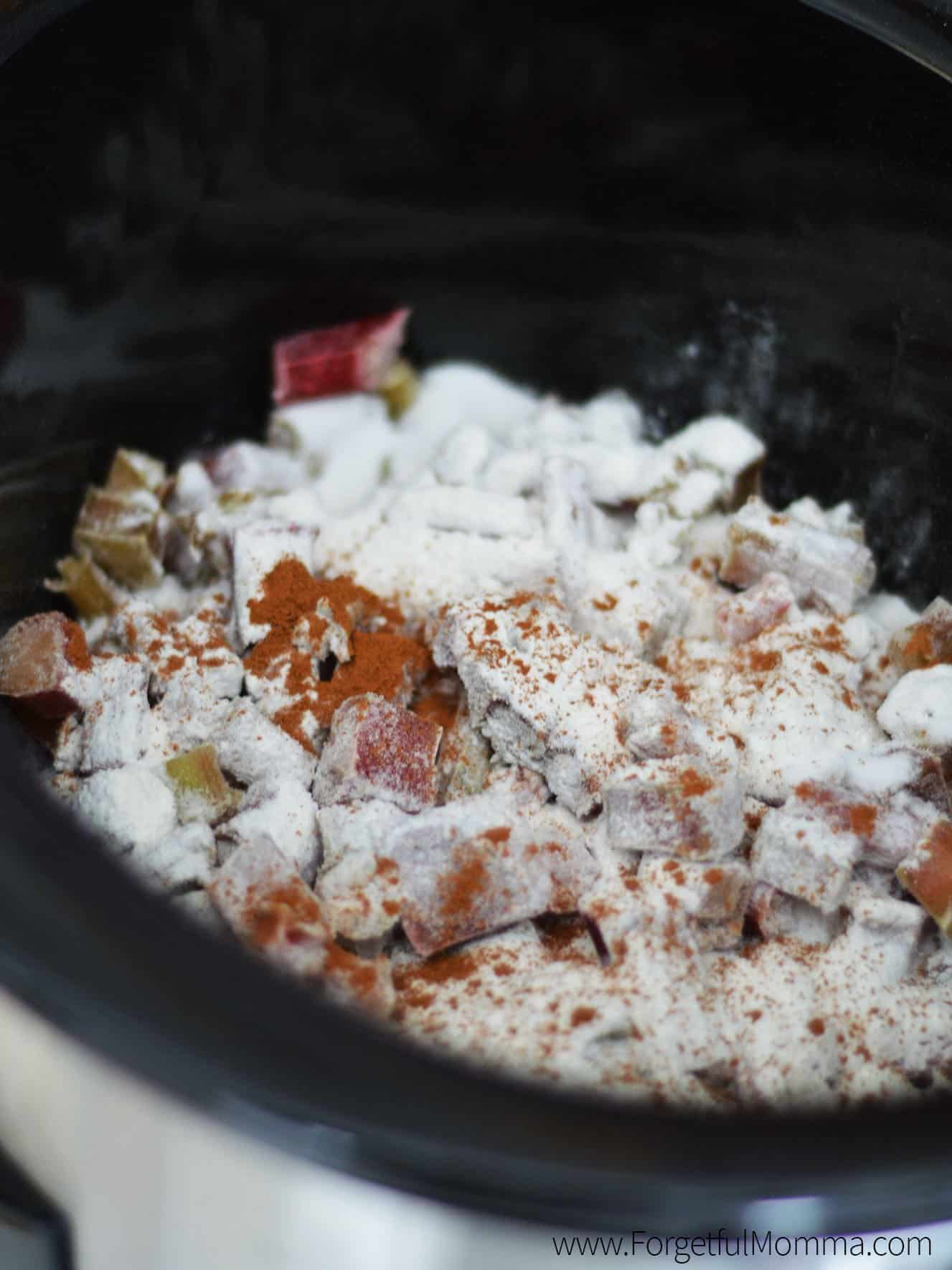 Rhubarb Crisp in the Slow Cooker recipe