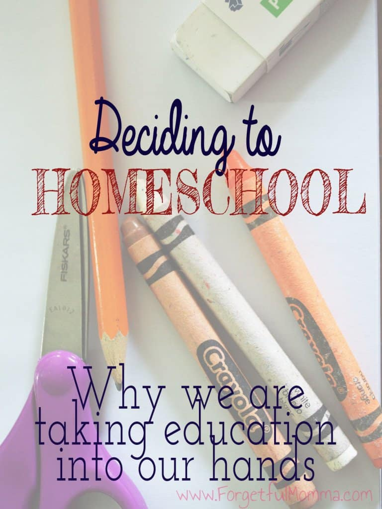 Deciding to homeschool