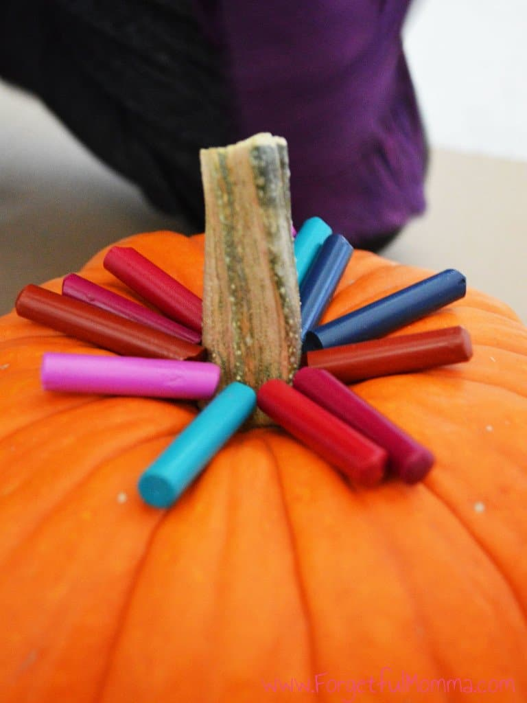 Crayon Wax Melted Pumpkin