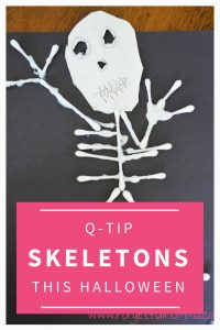 Q-Tip Skeletons for Halloween