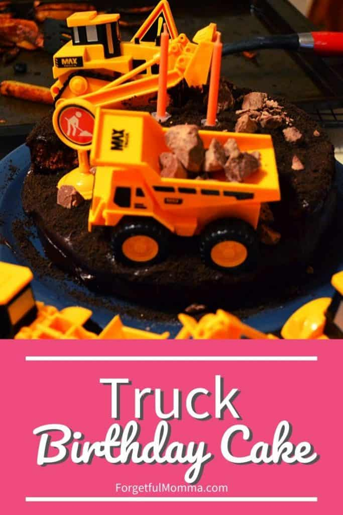 Miraculous Easy Truck Birthday Cake Forgetful Momma Birthday Cards Printable Opercafe Filternl