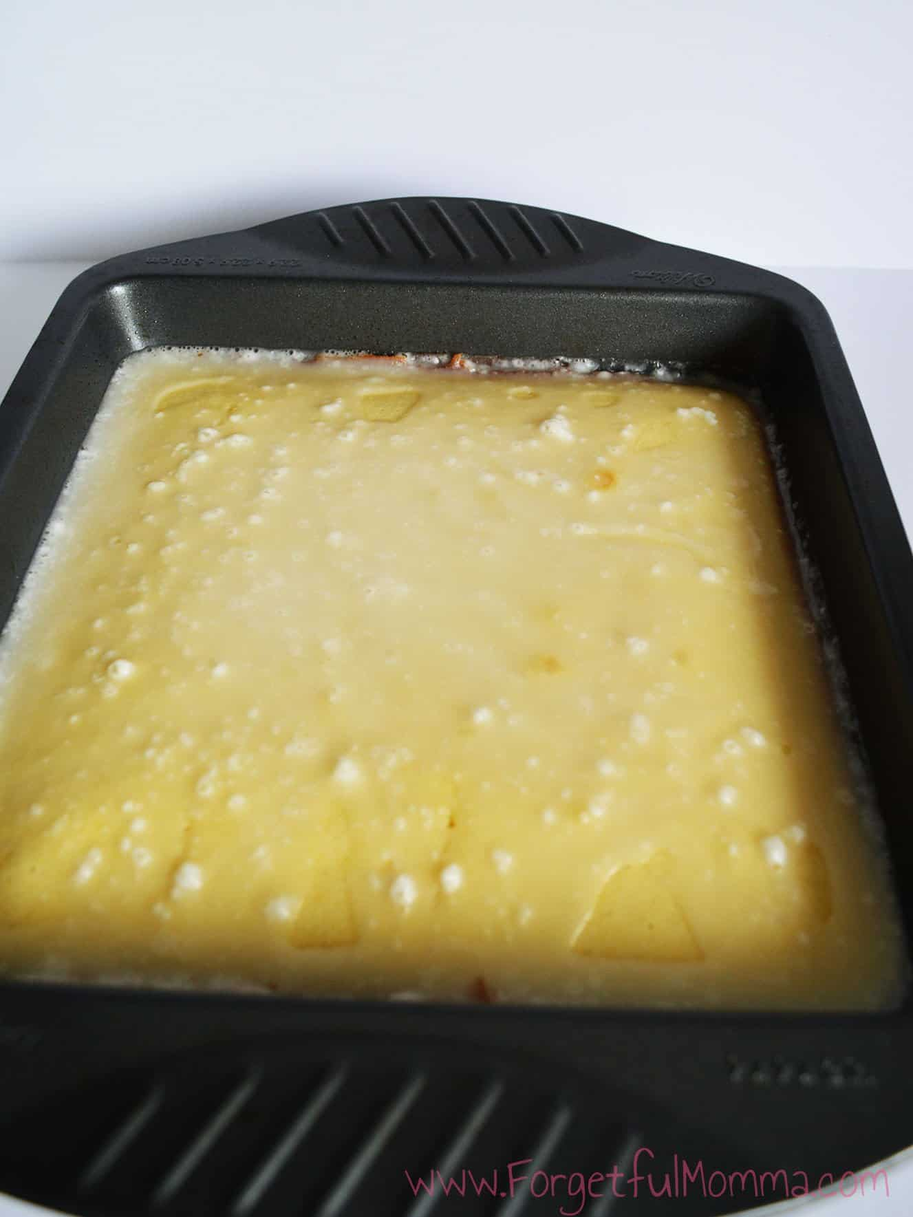Lemon Brownies with Lemon Glaze