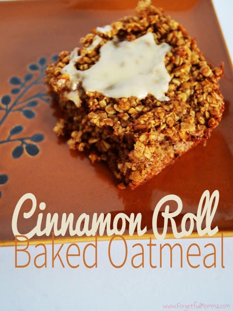 Cinnamon Roll Baked Oatmeal