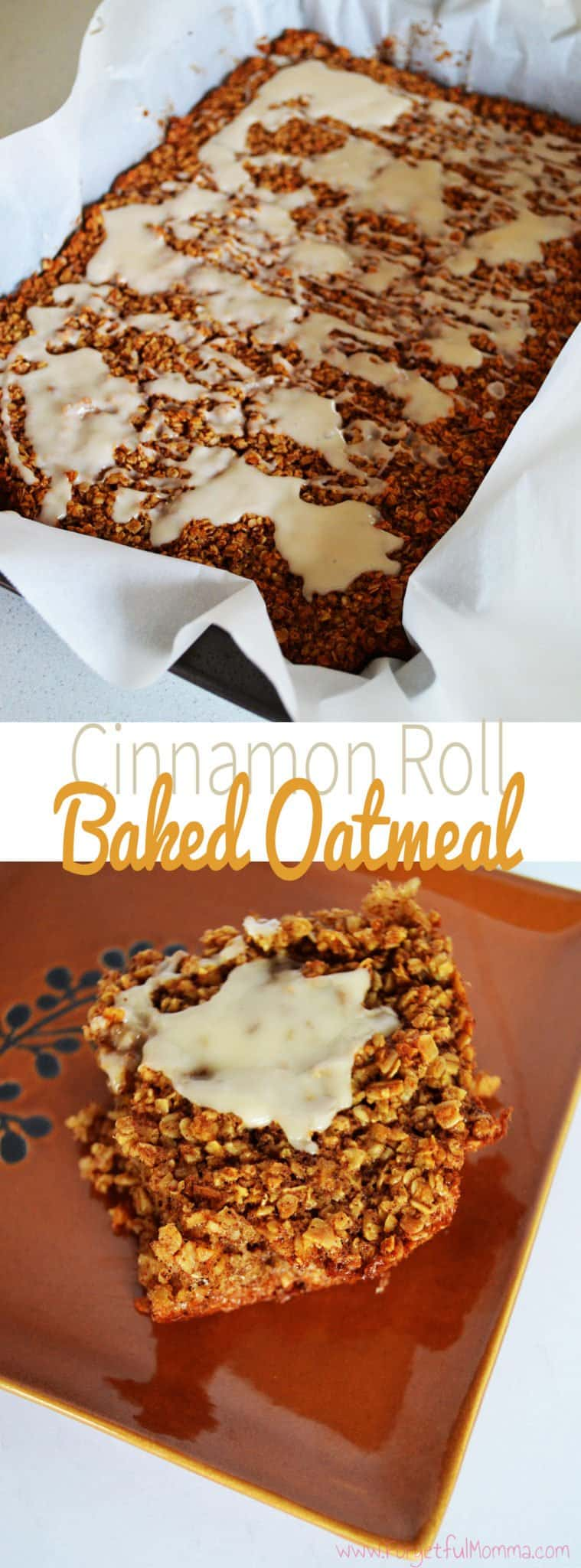 Cinnamon Roll Bake Oatmeal