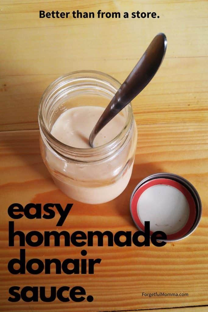 easy homemade donair sauce.