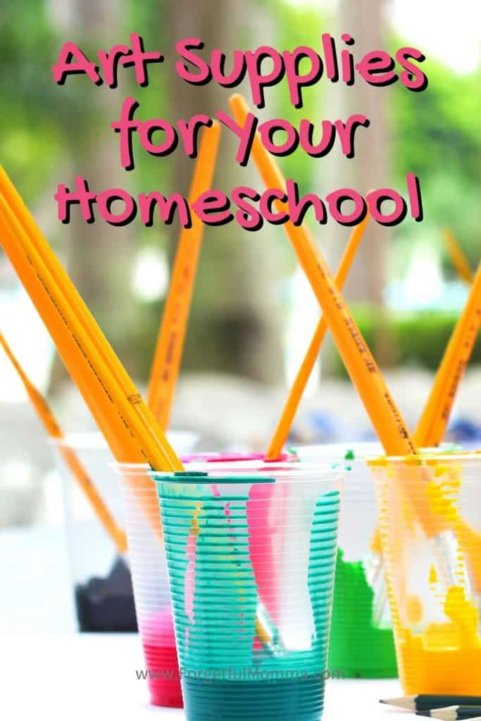 Buying Art Supplies for Your Homeschool