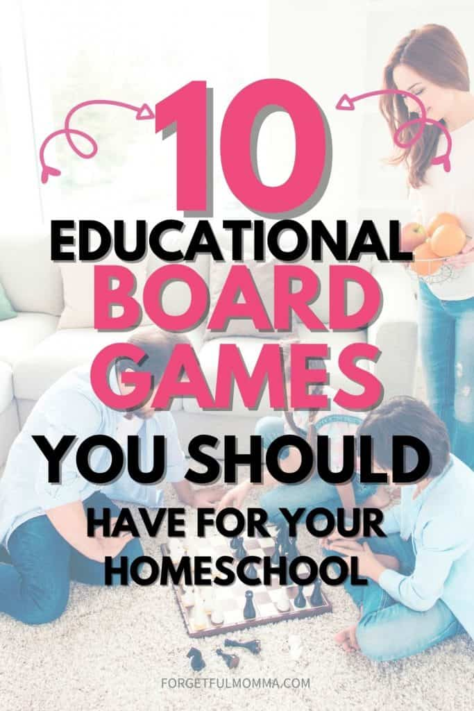 10+ Educational Board Games for Your Homeschool