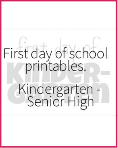 First Day of School Picture Sign