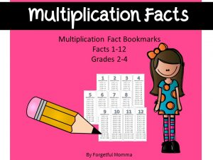 Multiplication Bookmark style Flashcards