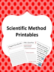 Scientific method sheets