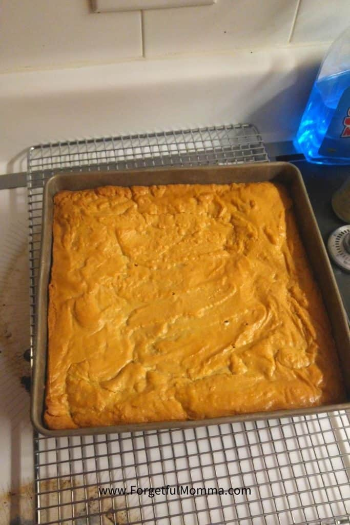 Vanilla Brownies - straight from the oven