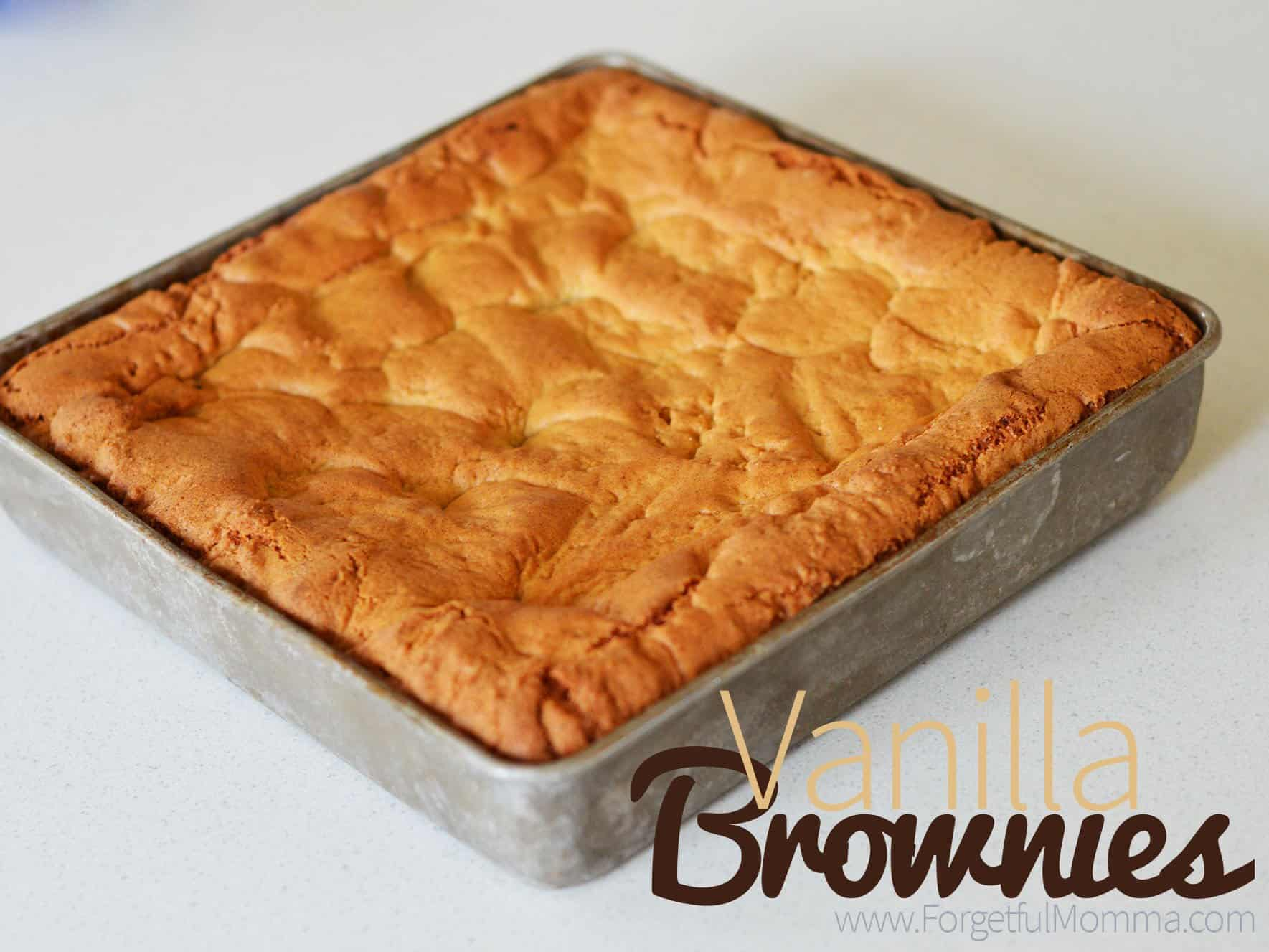 vanilla brownies
